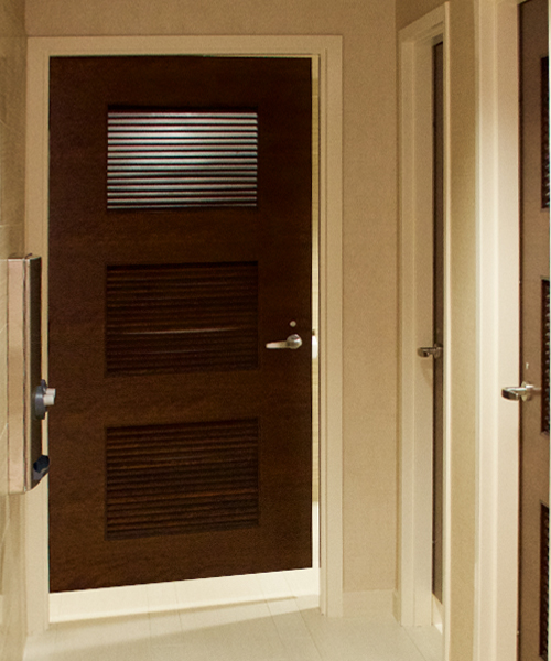 Adding depth to a door is easy. Louvers can provide function while adding a sophisticated touch. No matter the width or height of your opening Oshkosh Door ... & Custom Interior Wood Doors | Etched Doors | Oshkosh Door